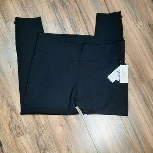 Melissa McCarthy Size 2X Seven7 Zip-Cuff Leggings